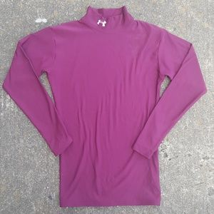 Under Armour Mock Neck ColdGear Maroon Top S